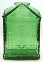 Vintage Wheaton N.J. Green Glass 1st National Bank 6 in Coin Savings New Jersey