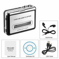Usb Cassette Capture Tape-To-Mp3 Converter Sound Music Player+Headphone Portable