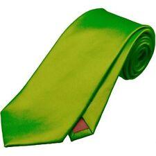 Cravatte e papillon da uomo verde raso