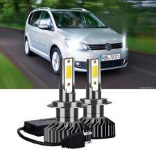 FOR VW TOURAN 2003+ 2x H7 100W LED HEADLIGHT BULBS KIT CANBUS ERROR FREE