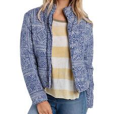 NEW* Billabong S COAT Puffer JACKET TOP $120 Retail Blue Ivory Cotton Jericho