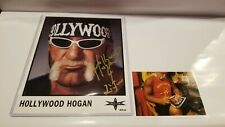 Hollywood Hogan signed inscribed 8x10 in gold NWO WWE WWF proof photo
