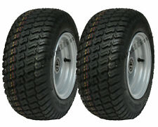 16x6.50-8 Grass tyres on wheel rim, lawnmower, cart buggy, ATV trailer, set of 2