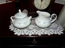 ROYAL DOULTON CHINA ANGELIQUE SUGAR BOWL WITH LID AND . CREAMER SET