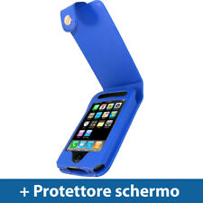 Blu Eco Pelle Custodia per Apple iPhone 3G 3GS 16gb 32gb Case Cover Protezione