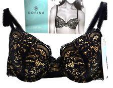 Dorina T-Shirt Padded Bra Size 34B Eur 75B Black