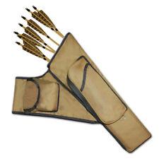 Three Tubes Target Side/Hip Fabric Arrow Quiver Faqpt787A Khaki R/H