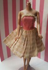 Old Vintage Clone Barbie Doll Pink Sun Dress