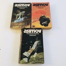 Asimov The Early Asimov Volume 1 2 3 Panther Science Fiction VINTAGE PAPERBACKS