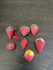 Vintage Lot 7 Red Emery Strawberries (One Tomato Emery)