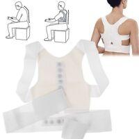 Magnetic Therapy Posture Back Shoulder Corrector Support Brace Belt Adjustable