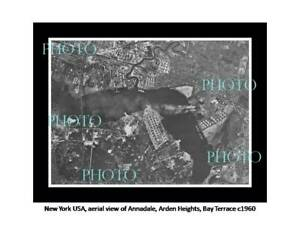 OLD POSTCARD SIZE PHOTO NEW YORK USA AERIAL VIEW ANNADALE ARDEN B/TERRACE 1960