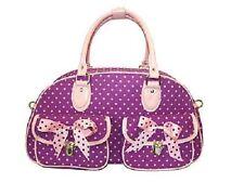 PURPLE & PINK  Polka Dot- OVERNIGHT BAG HANDBAG