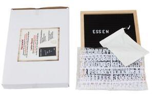 Holz Letter Board Filzbrett 30x45 cm Natur Schwarz mit 458 Buchstaben Memotafel