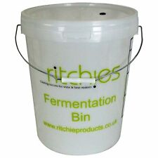 Ritchies Fermenter 25 Litre Bucket with Lid and Grommet