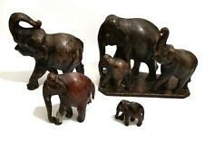 A collection of wooden elephants ,Very beautiful antiques