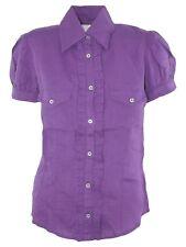 pennyblack max mara camicia blusa donna viola lino taglia it 42 m medium