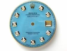Rolex Men's Datejust 2Tone Ice Blue MOP Mother of Pearl Dial with Diamond