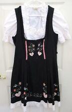 Landhaus Women Size L 12 German Waitress Oktoberfest DRESS Blouse Embroidered