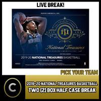2019-20 NATIONAL TREASURES BASKETBALL 2 BOX BREAK #B458 - PICK YOUR TEAM