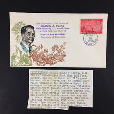 FDC First Day Cover Cachet Manuel A. Rojas Enemy of Communism Philippines 1958