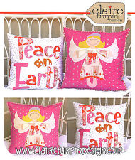 Angel Delight - Applique Sewing Craft PATTERN - Christmas Cushion Shabby Chic