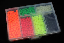 850pcs/box Plastic Fishing Beads Round&Oval Luminous Sea Floating Rigs Lure Bait