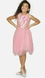 Justice Girls Pink Sequin Tutu Dress - New with Tags