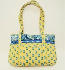 VERA BRADLEY Perfect Summer Yellow & Blue French Floral Quilted Tote Bag ~ XLNT!