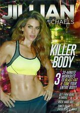 Jillian Michaels KILLER BODY DVD Video Abs Back Buns Thighs Weights Beginner