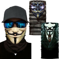 V for Vendetta Motorcycle Cycling Neck Scarf Bandana Headband Cosplay Balaclava