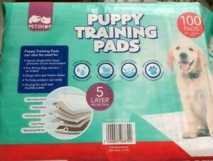 Petshop Quilted Dog & Puppy Training Pads, Ultra Absorbent, 5 Layer Protection