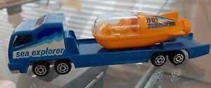 VINTAGE MAJORETTE Transporter Submarine Sea Explorer M/NM