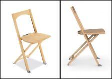 CALLIGARIS OLIVIA Sedia Pieghevole Salvaspazio Legno Folding Chair MADE IN ITALY