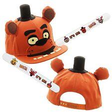 Five Nights at Freddy's Hat Cap Snapback and Slap Bracelet Freddy Fazbear FNAF
