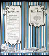 NEW ENGLAND STEAMSHIP CO. 1930 Brochure -- Fall River Line -- Photos, Deck Plans