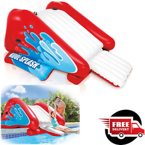 """Inflatable Water Slide 131 x 81 x 46"""" Swimming Pool Commercial Inground Kid Fun"""