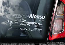 Fernando Alonso - Car Window Sticker - F1 Champion Formula 1 Decal Sign Art- V02