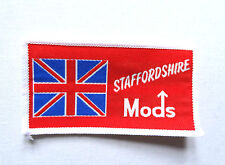 Staffordshire Mods Sew On Patch Indie Retro Mod Scooter