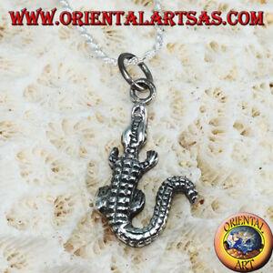Anhänger A Coccodrillo Alligator aus Silber 925‰