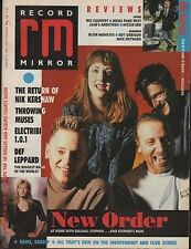 New Order on Magazine Cover 4 February 1989    Def Leppard    Throwing Muses