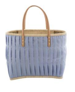 Einkaufskorb Korbtasche Bastkorb in Blau von Rice NEU