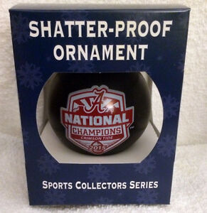 2015  Alabama Crimson Tide NATIONAL CHAMPIONS Shatter-Proof CHRISTMAS ORNAMENT
