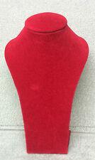 Medium Jewellery Display Upright Bust (Deep Red Suede)