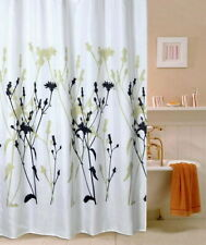 Dancing Lines Black Design Bathroom Fabric Polyester Shower Curtain 2s159