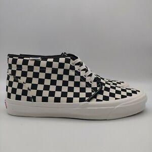 Vans OG Chukka LX Checkerboard Classic White Black Men's Size 12 EUR 46 New