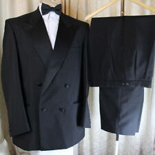 Men's Four Button Double Breasted Wool Suits & Tailoring