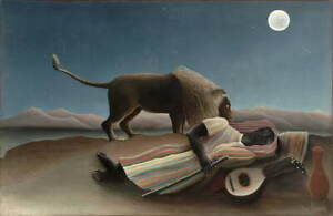 Henri Rousseau The sleeping gypsy Giclee Art Paper Print Poster Reproduction