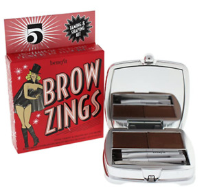 Benefit Brow Zings Eyebrow Tame Shape Fill Wax Powder Tweezer #5 Black Brown