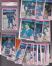1982 - 83 OPC Team SET Lot of 22 Quebec NORDIQUES NM+ o-pee-chee STASTNY - PSA